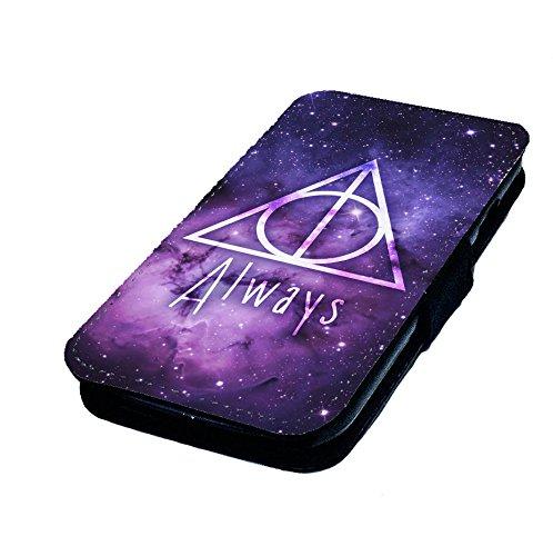 WTF | Heiligtümer des Todes Logo Sterne | Kunstleder Flip-Telefon Fall |, Polyester Kunstleder, Samsung Galaxy S3 Mini