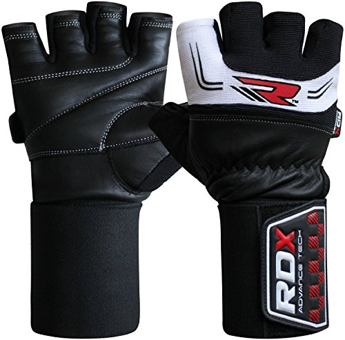 RDX-Gym-Mens-Weightlifting-Fitness-Bodybuilding-Training-Gloves-Black-S