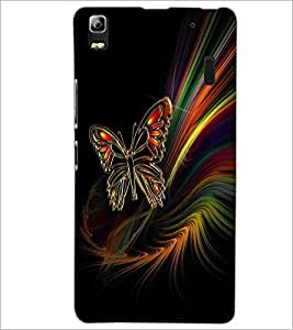 PrintDhaba ButterFly D-2009 Back Case Cover for LENOVO K3 NOTE (Multi-Coloured)