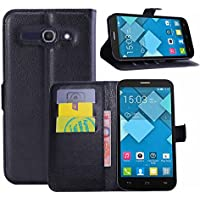 Guran® Funda de Cuero Para Alcatel OneTouch Pop C9 Smartphone Tirón de la Cubierta de la Función de Ranura Tarjetas y Efectivo Caso