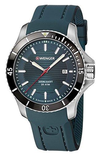 WENGER Reloj Analógico para Hombre de Cuarzo con Correa en Silicona 01.0641.128
