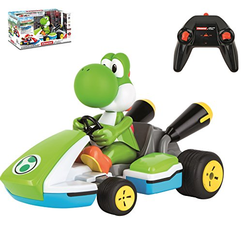 Carrera RC 370162108 - Mario KartTM, Yoshi - Race Kart mit Sound (Carrera Slot Car Mario)
