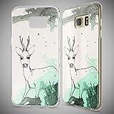 NALIA Handyhülle für Samsung Galaxy S7 Edge, Slim Silikon Motiv Case Hülle Cover Crystal Schutzhülle Dünn Durchsichtig, Etui Handy-Tasche Backcover Transparent Bumper, Designs:Deer Test
