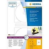 Herma 4460 CD-Etiketten (Maxi A4 116 mm Papier matt, blickdicht) 200 Stück weiß