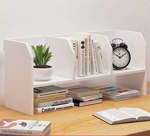 WYN Schreibtisch-Regal Book Shelf Desktop-Bücherregal Schreibtischablage Einfach Platzsparend Büro zu Hause,White,B - Breite Zähler Einheit