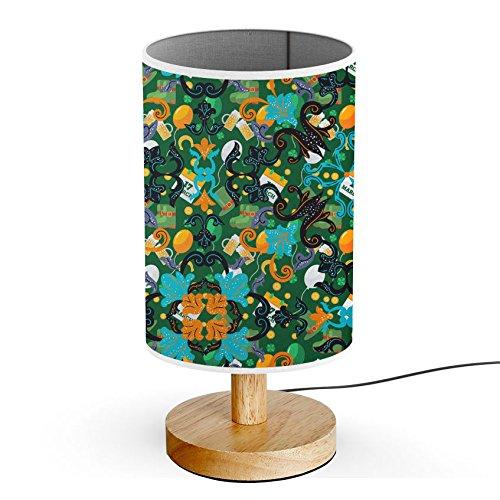 ArtsyLight - Schreibtischlampe LED Holz Tischlampe, USB-Stecker Schlafzimmer Nachttischlampe [ Besetzt St Patrick Tag (St Kinder Patricks Tag)