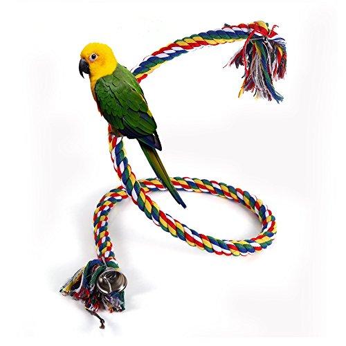 zudem Kleine und mittlere Papageien neuen Seil aus Baumwolle farbig TawbM für Papageien Kleine Vögel -