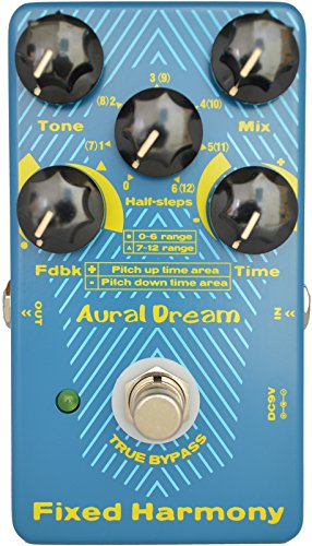 Aural Dream Fixed Harmony Digital Guitar Pedal with double sound Harmony effect and Shifting semitones or Octaves effects,True Bypass
