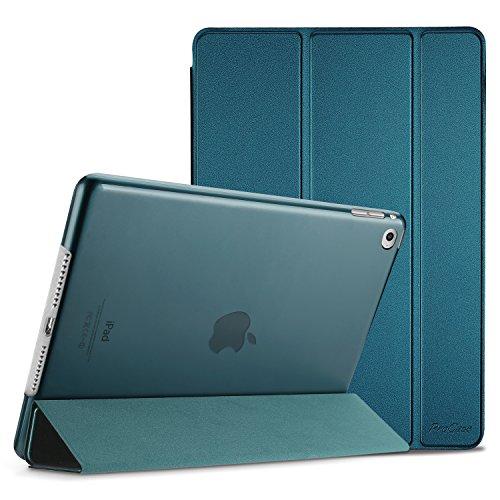ProCase iPad Air 2 Ultra Dünn Smart Hülle, Leichte Stand Schutzhülle Shell mit Translucent Frosted Rückhülle für Apple iPad Air 2 (A1566 A1567) -Teal