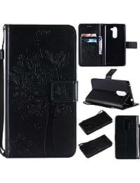 BoxTii® Coque Huawei Honor 6X [avec Gratuit Protection D'écran en Verre Trempé], Huawei Honor 6X Magnetic Housse Coque, Etui de Téléphone en TPU Silicone pour Huawei Honor 6X (#1 Noir)