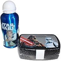 Star Wars Disney Brotdose und Aluminium Trinkflasche blau Set preisvergleich bei kinderzimmerdekopreise.eu