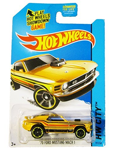 Hot Wheels, 2014 HW City, '70 Ford Mustang Mach 1 [Yellow] Die-Cast Vehicle #97/250 (Ford 97 Mustang)