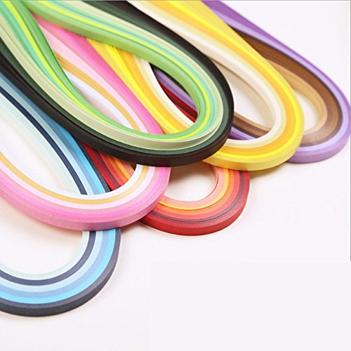 Tiras de papel Quilling Kits (ancho 3 mm/6 mm/7 mm/10 mm, longitud 54 cm)... 3 mm