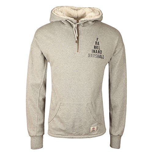 Franklin-amp-Marshall-Hooded-Fleecel-Half-Zip-Light-Grey-Melange