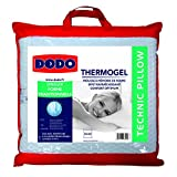 Dodo 8221660 Thermogel Oreiller Uni Taie Polyester/Modal + Sous-Taie Polyester Jersey...