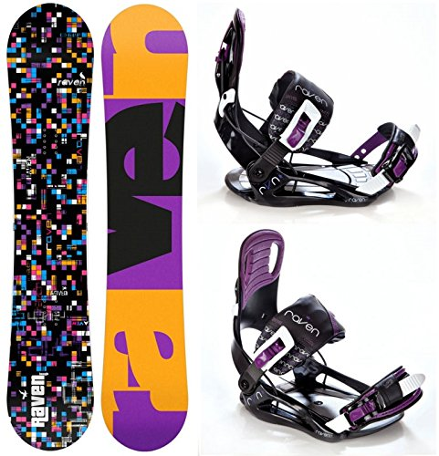 Snowboard Set: Snowboard Raven Grid Black 2017 + Bindung Raven Starlet S