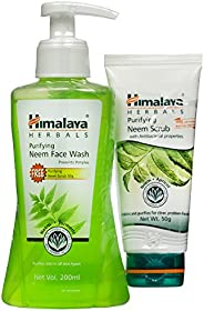 Himalaya Purifying neem Face Wash 200 ml + (Neem Scrub 50gm free)