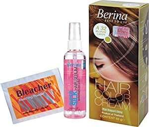 Berina Hair Color, Serum and Bleacher, Blonde Green