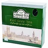 Ahmad Tea - Earl Grey | Schwarzteemischung mit Bergamotte | 100 Teebeutel á 2 g mit Band und aromaversiegelt in Folie verpackt