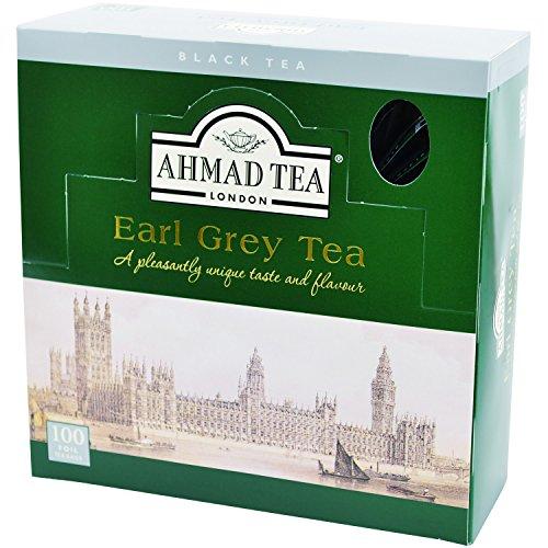 Ahmad Tea- Earl Grey Schwarzer Beutel- Tee, armoa versiegelt in Folie Verpackt 100 St. á 2 Gramm