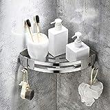 WinArrow SUS304Edelstahl Dreieckig Badewanne Wandhalterung (Silber)