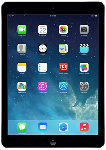 Best Apple 9.7-inch iPad Air (Space Grey) – (ARM 1.3GHz, 1GB RAM, 32GB Storage, Wi-Fi, Cellular, iOS 7.0.4) on Amazon