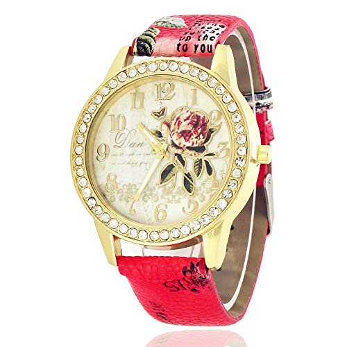 851083c635ae ... relojes de regalo. Kommentare. Women s Leather Band Analog Quartz Wrist  Watch