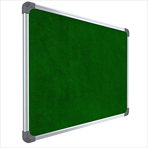 Pragati Systems Genius Notice Board (Pin Up Board) for Home, Office and School, Lightweight Aluminium Frame, 2×3 Feet
