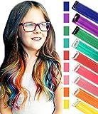 Rhyme Clip di Estensioni per Capelli Colorate per Ragazze Accessori per Capelli per Bambole Pezzi di Parrucca per Bambini 9PCS (Colore dell'arcobaleno)