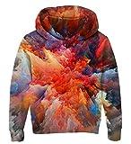 Goodstoworld 3D Kapuzenpullover Kinder Jungen Mädchen Bunt Sweatshirt Pullover Coole Druck Lange Ärmel Pulli Hoodie Jacket