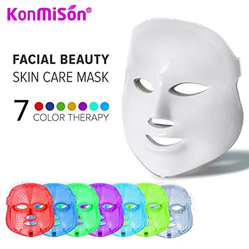 YARUMASK 7 Farben LED Maske Lichtbehandlung, Entfernung Hautverjüngung Maschine,Straffung Gesichtspflege,Anti-Falten Anti-Akne LED Maske mit Hals,Für Die Tägliche Gesichtsmaske - Kollagen-aktivator