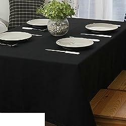 GXX Sencilla y moderna tela más gruesa sólida negro/manteles/mantel/ mantel-A 140x240cm(55x94inch)