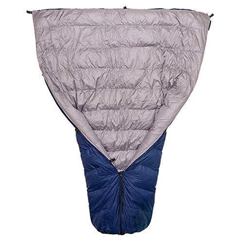 Paria Outdoor Products Thermodown 30° Daunenschlafdecke - Ultraleichte 3-Jahreszeiten-Steppdecke - perfekt für Backcountry Camping, Rucksackreisen und Hängematten, Navy, Long