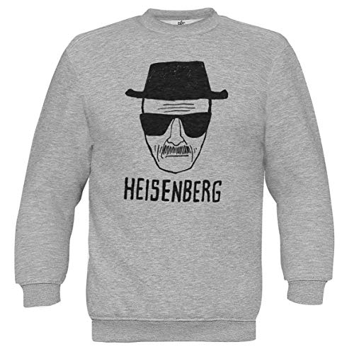 CHILLTEE Breaking Bad Heisenberg Art Sketch Grau Unisex Pullover S