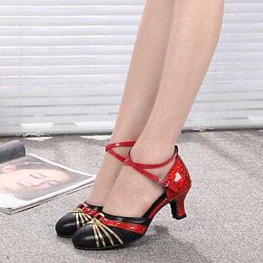 Saltos Prata De Dança Prática Envernizado Interior Sapatos De Agulha Couro Calcanhar Latina Xiamuo Moderna Camurça Preto 7txg8q1w