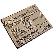 vhbw Li-Polímero batería 2100mAh (3.8V) para Smartphone, teléfono móvil, teléfono celular Zopo ZP530, ZP532 por BT570.