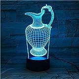 Blumenvase Flasche 3D 7 Farbe Licht Acryl Nachtlampe Usb Schlaf Leuchte Power Tischlampe Schlafzimmer Dekor