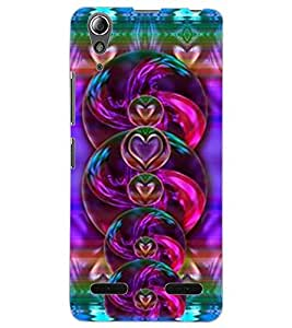 ColourCraft Beautiful Hearts Design Back Case Cover for LENOVO A6000 PLUS