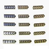 Cubos con cifras para precios, uso en escaparates, 340 cubos, cifras doradas sobre fondo negro. PCUGD