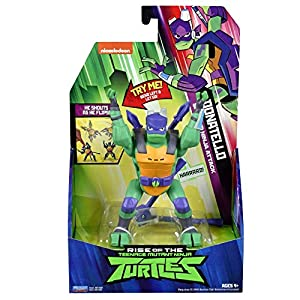 Teenage Mutant Ninja Turtles TUAB2200 The Rise Deluxe Action Figures - Donatello Sideflip Attack
