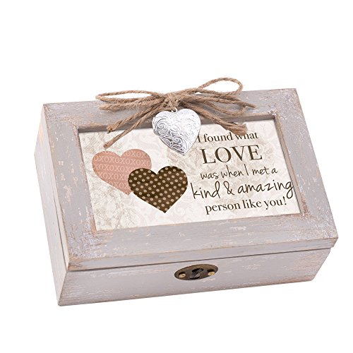 (Cottage Garden Love Amazing Person Taupe Holz Medaillon Petite Musik Box You Light up My Life)