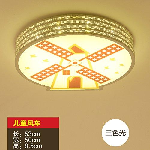 KANG@ Jardin lampes décoratives étoile lune enfant lumière lampe LED cartoon boy chambres Les chambres sont claires moulin tri color