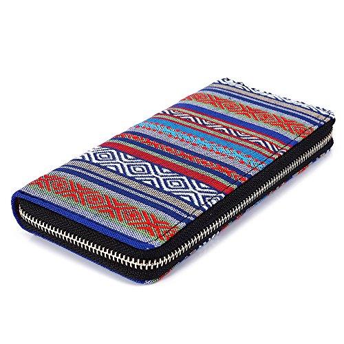 Ethno Portafogli 2017 Multicolore Tribal Purple Tribal Blue