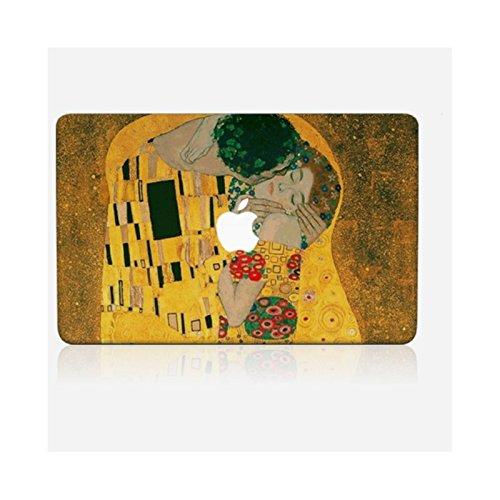 Haus Kiss (Wandtattoo MacBook Air 13von zu Hause Skinkin–Design Original: The Kiss von Gustave Klimt)