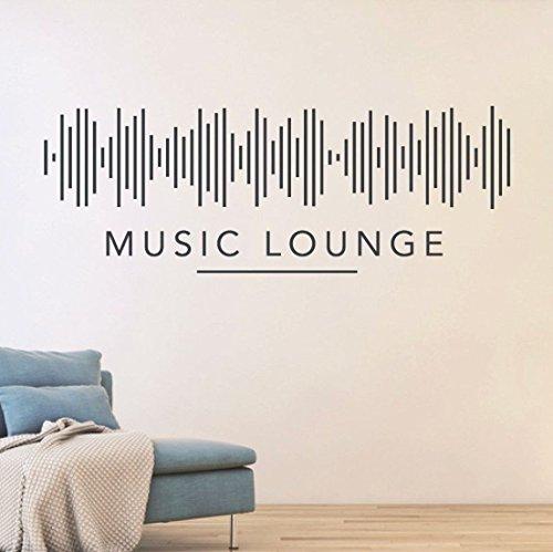 tjapalo S-pkm102 Flur Deko Wandspruch Wandtattoo Wohnzimmer Wandtatoo Musik Lounge DJ Music Lounge...