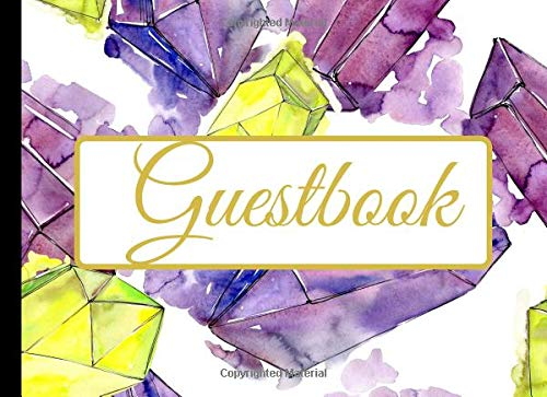Guestbook: A Crystal Guest Sign in Visitor Registry Log Journal Perfect for Weddings, Memorial Service, Birthday, Party, Anniversary, Retirement, ... with Beautiful Blank Lined Pages To Write In.