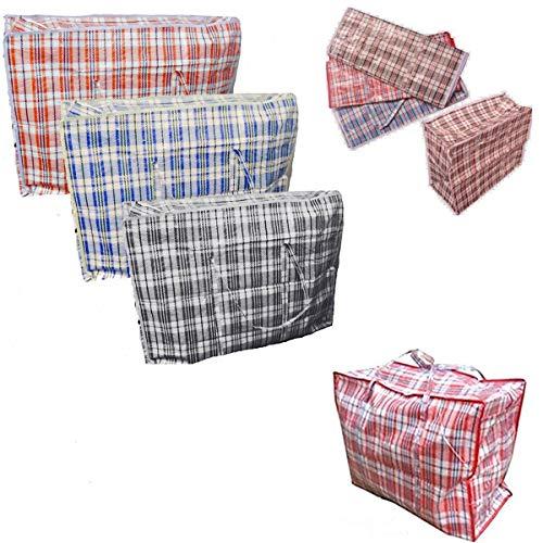 10 x Sacs à linge réutilisable Grand Fermeture Éclair Shopping Sac de rangement robuste \