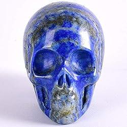 JNBDHSF Estatua de lapislázuli natural de 2 pulgadas, cristal mineral colección