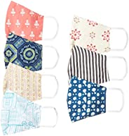 Ayukta Women's Cotton Reusable Face Mask (Pack of 7) (AYUMSK01_Multicolor_Free S