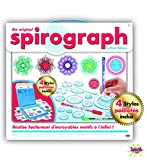 Spirograph Deluxe Kit + Palette Neon & Glitter-45 pièces 4 stylos pailletés Inclus, 30372, Bleu